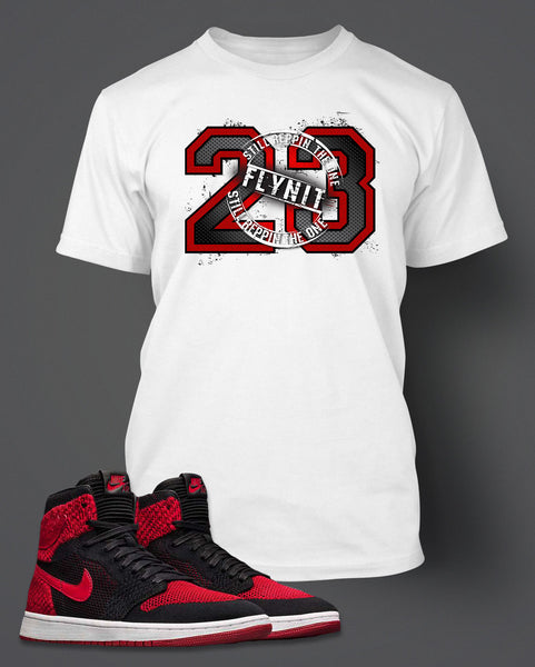 Graphic 23 T Shirt To Match Retro Air Jordan 1 Flynit Shoe