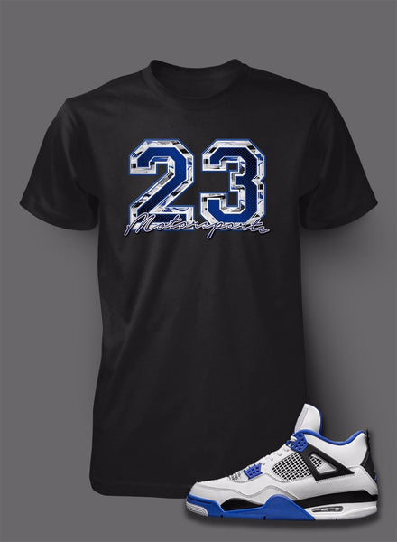 Graphic 23 T Shirt To Match Retro Air Jordan 4 Motorsports Shoe
