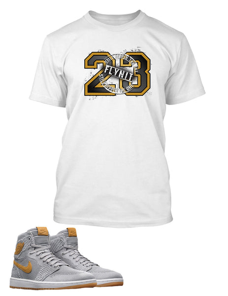 23 T Shirt to Match Retro Air Jordan 1 Flynit Shoe