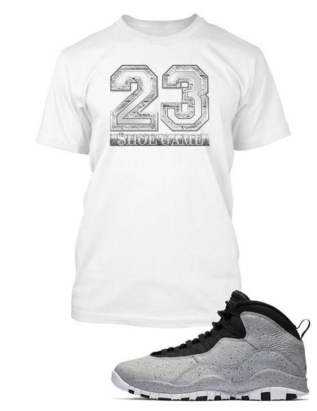 bf53d89ae5f New Graphic T Shirt to Match Air Jordan 10 Retro Light Smoke Shoe – Vegas  Big and Tall