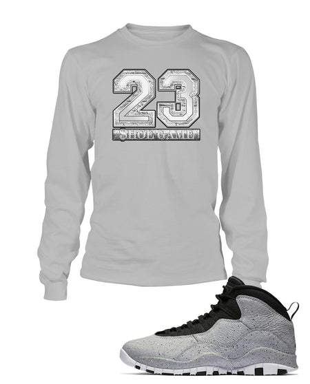 New Lit Graphic T Shirt to Match Air Jordan 10 Retro Light Smoke Shoe