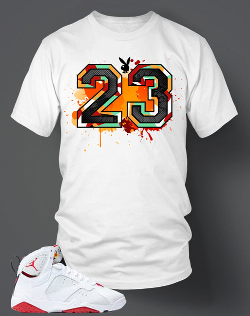 T Shirt To Match Retro Air Jordan 7 Hare - Just Sneaker Tees - 1
