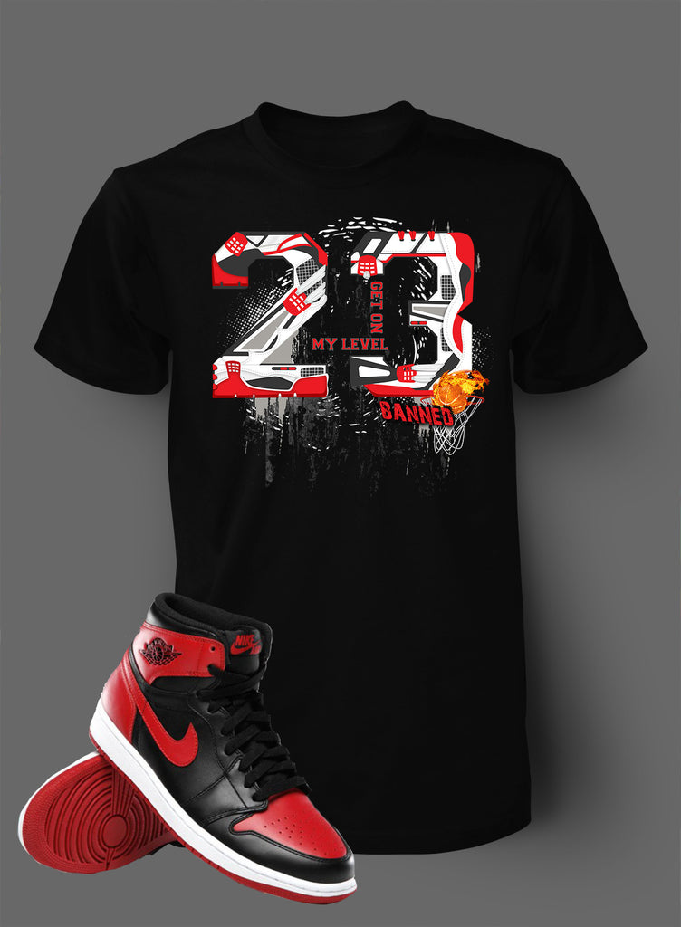4eed1124feaf Graphic Shattered T Shirt To Match Retro Air Jordan 1 Banned Shoe – Vegas  Big and Tall