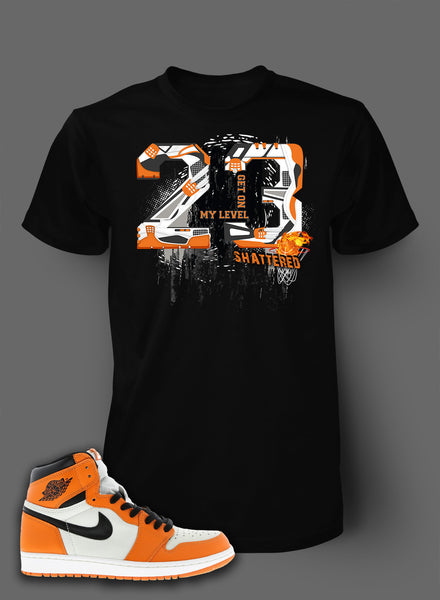 new product aac9d 74a92 T Shirt To Match Retro Air Jordan 1 Shoe Bred Orange - Just Sneaker Tees -