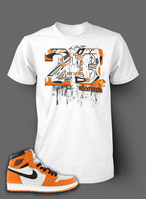 T Shirt To Match Retro Air Jordan 1 Shoe Bred Orange - Just Sneaker Tees - 2