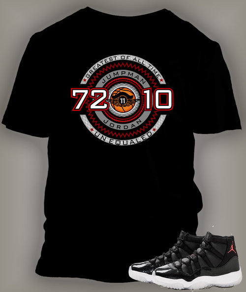 Custom T Shirt To Match Air Jordan 11 Shoe  72-10 - Just Sneaker Tees - 1