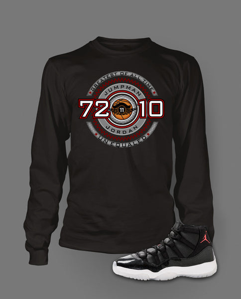 Long Sleeve T Shirt To Match Retro Air Jordan 11 Shoe 72-10 - Just Sneaker Tees - 1