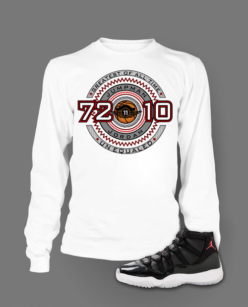Long Sleeve T Shirt To Match Retro Air Jordan 11 Shoe 72-10 - Just Sneaker Tees - 2