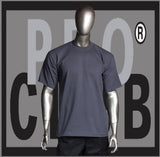 SHORT SLEEVE TEE CREW NECK Pro Club COMFORT T Shirt (Charcoal) Small to 7XL - Just Sneaker Tees