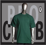 SHORT SLEEVE TEE CREW NECK Pro Club COMFORT T Shirt (Forest Green) Small to 7XL - Just Sneaker Tees
