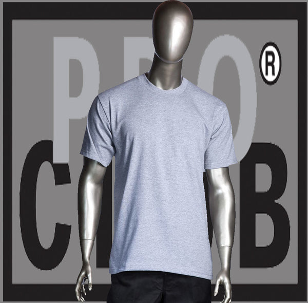 SHORT SLEEVE TEE CREW NECK Pro Club Heavyweight T Shirt (Sport Grey) Small to 7XL Tall Sizes Too - Just Sneaker Tees - 1