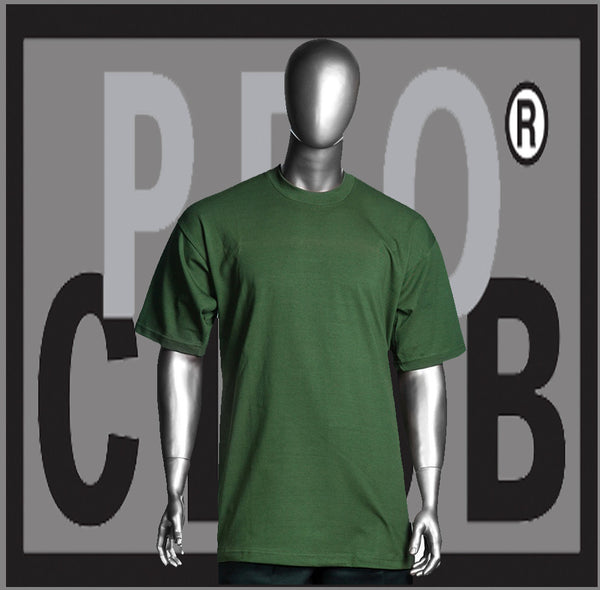 SHORT SLEEVE TEE CREW NECK Pro Club COMFORT T Shirt (Olive Green) Small to 7XL - Just Sneaker Tees
