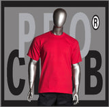 SHORT SLEEVE TEE CREW NECK Pro Club Heavyweight T Shirt (Red) Small to 7XL Tall Sizes Too - Just Sneaker Tees - 1
