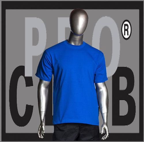 SHORT SLEEVE TEE CREW NECK Pro Club Heavyweight T Shirt (Royal Blue) Small to 7XL Tall Sizes Too - Just Sneaker Tees - 1