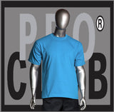 SHORT SLEEVE TEE CREW NECK Pro Club Heavyweight T Shirt (Sky Blue) Small to 7XL Tall Sizes Too - Just Sneaker Tees - 1