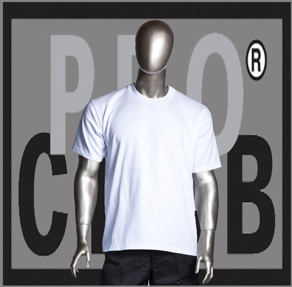 SHORT SLEEVE TEE CREW NECK Pro Club Heavyweight T Shirt (Snow White) Small to 7XL - Just Sneaker Tees - 1