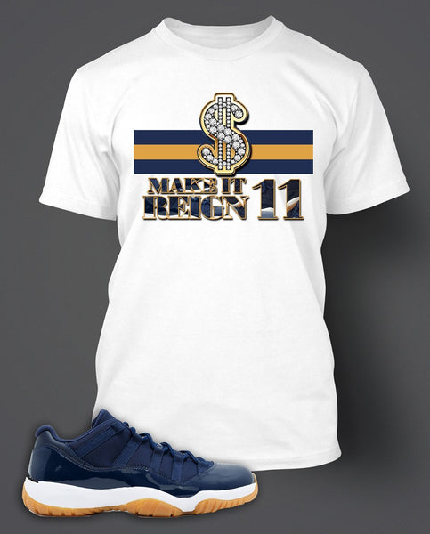 T Shirt To Match Retro Air Jordan 11 Gum Shoe