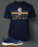 T Shirt To Match Retro Air Jordan 11 Shoe Gum Tee - Just Sneaker Tees - 2