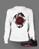Long Sleeve T Shirt To Match Retro Air Jordan 5 Low Shoe Alternate - Just Sneaker Tees - 2