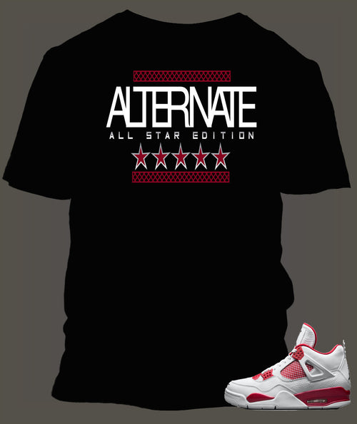 T Shirt To Match Retro Air Jordan 4 Shoe Alternate 89 Custom All Star Tee - Just Sneaker Tees - 1