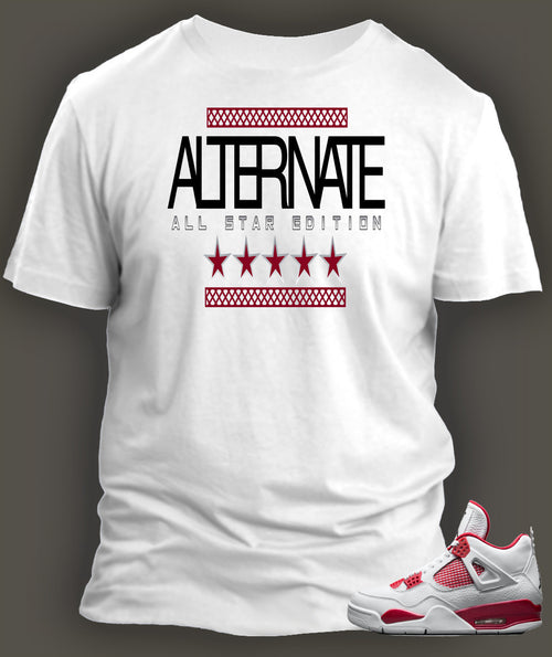 T Shirt To Match Retro Air Jordan 4 Shoe Alternate 89 Custom All Star Tee - Just Sneaker Tees - 2
