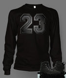 Long Sleeve Custom T-shirt To Match Retro Air Jordan 9 Anthracite - Just Sneaker Tees - 1