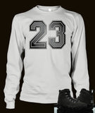 Long Sleeve Custom T-shirt To Match Retro Air Jordan 9 Anthracite - Just Sneaker Tees - 2