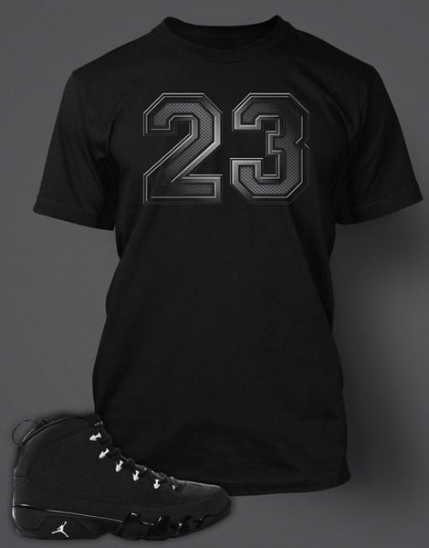 free shipping 05360 5178c Graphic T-Shirt To Match Retro Air Jordan 9 Anthracite Shoe – Vegas Big and  Tall