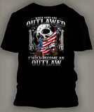 Mens T Shirt Become An Outlaw With Crest Classic Tee - Just Sneaker Tees