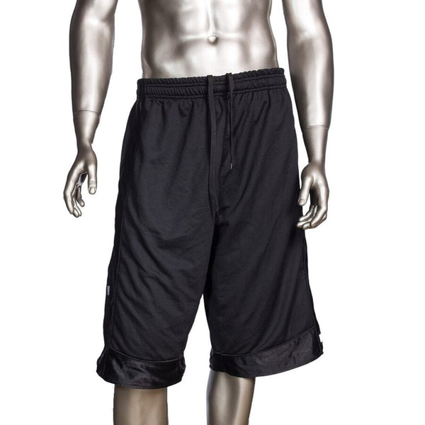 Mens Pro Club Mesh Jersey Basketball Shorts Small to 7XL Black - Just Sneaker Tees - 1