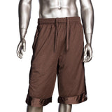 Mens Pro Club Mesh Jersey Basketball Shorts Small to 7XL Brown - Just Sneaker Tees - 1