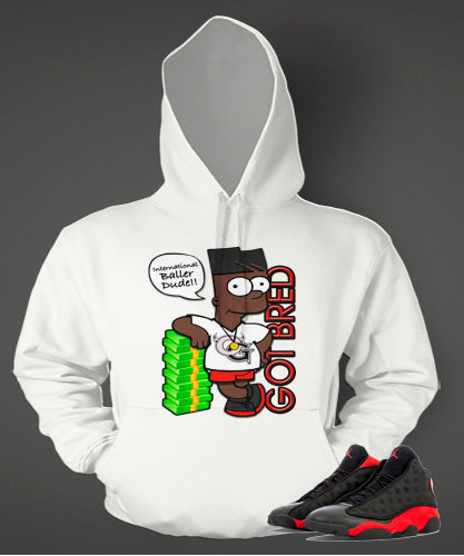 Graphic Bart Got Bred Hoodie to Match Retro Air Jordan 13 Bred Shoe