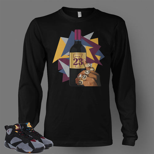 Long Sleeve T Shirt To Match Retro Air Jordan 7 Shoe Bordeaux - Just Sneaker Tees - 1