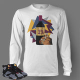 Long Sleeve T Shirt To Match Retro Air Jordan 7 Shoe Bordeaux - Just Sneaker Tees - 2