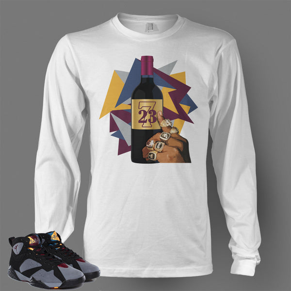 65ee7ee4f30eb3 Long Sleeve T Shirt To Match Retro Air Jordan 7 Shoe Bordeaux - Just  Sneaker Tees