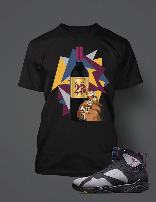 T Shirt To Match Retro Air Jordan 7 Shoe Bordeaux - Just Sneaker Tees - 1
