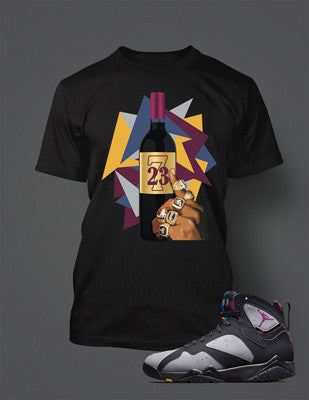 4ee489c43002d3 Graphic T Shirt to Match the Retro Air Jordan 7 Bordeaux Shoe ...