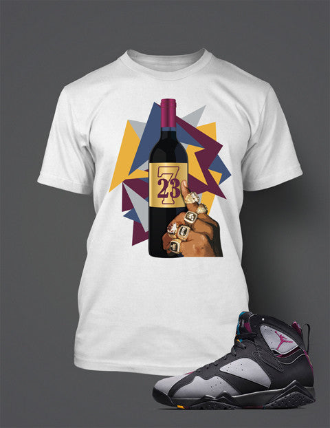 Jordan 7 Bordeaux Shirt - BRDX Seven - White
