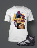 T Shirt To Match Retro Air Jordan 7 Shoe Bordeaux - Just Sneaker Tees - 2