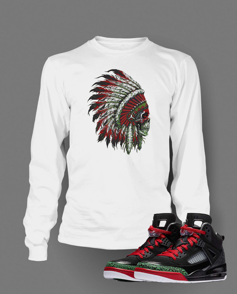 eff3767dc31213 ... OG WhiteCement - illCurrency Chieftain Graphic T Shirt to Match Retro  Air Jordan Spizike Shoe ...