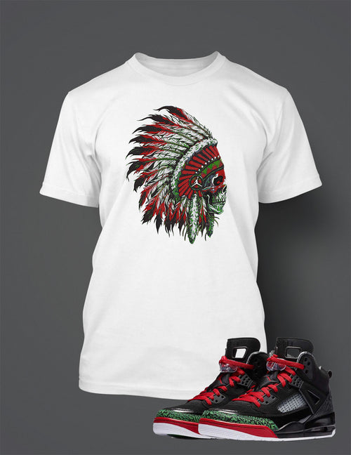 Chieftain T Shirt to Match Retro Air Jordan Spizike Shoe
