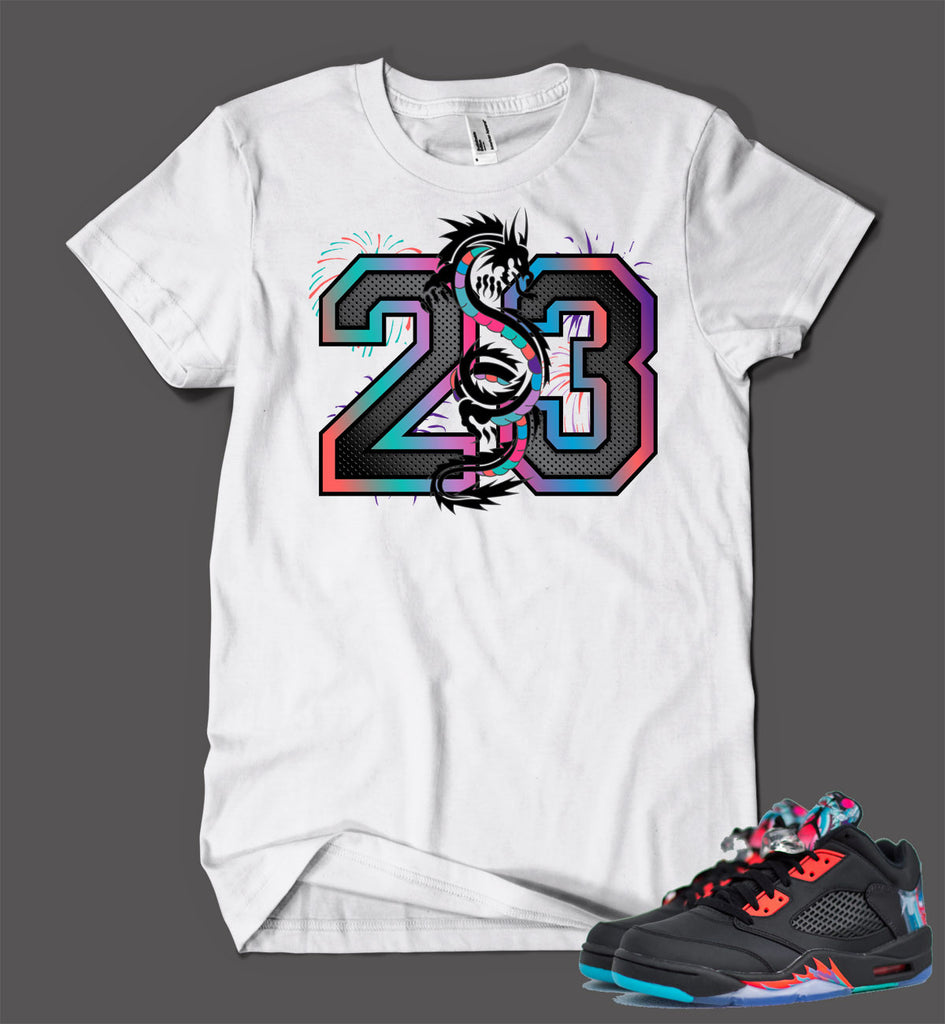 T Shirt To Match Retro Air Jordan 5 Low Chinese New Year Shoe
