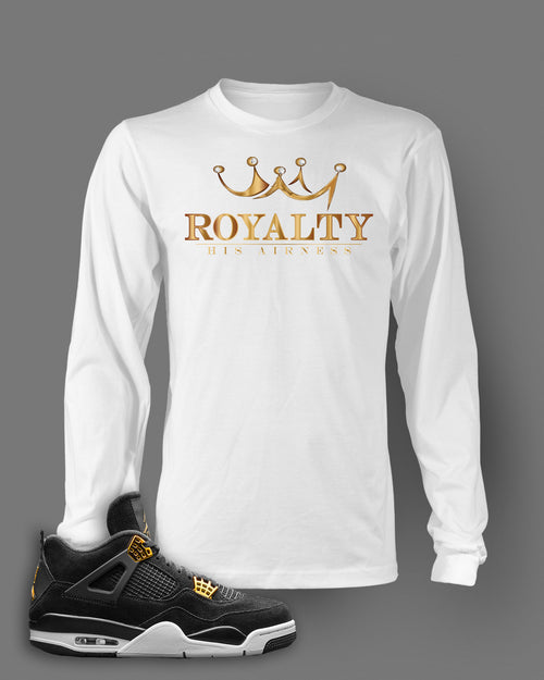 Long Sleeve Graphic Easy Money T Shirt To Match Retro Air Jordan 4 Royalty Shoe