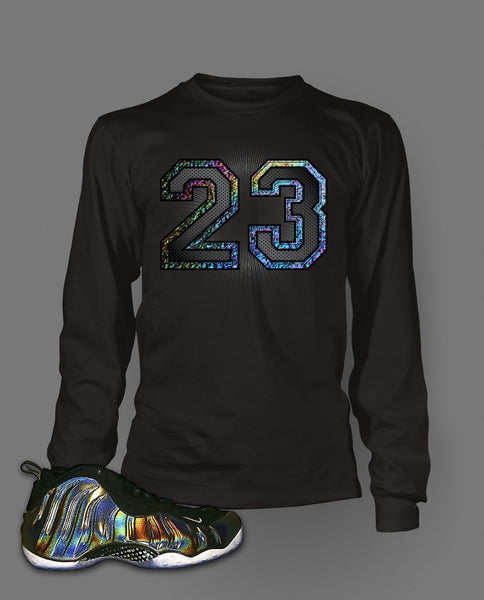 Long Sleeve T Shirt To Match Hologram Foamposite Shoe - Just Sneaker Tees - 1