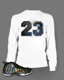 Long Sleeve T Shirt To Match Hologram Foamposite Shoe - Just Sneaker Tees - 2