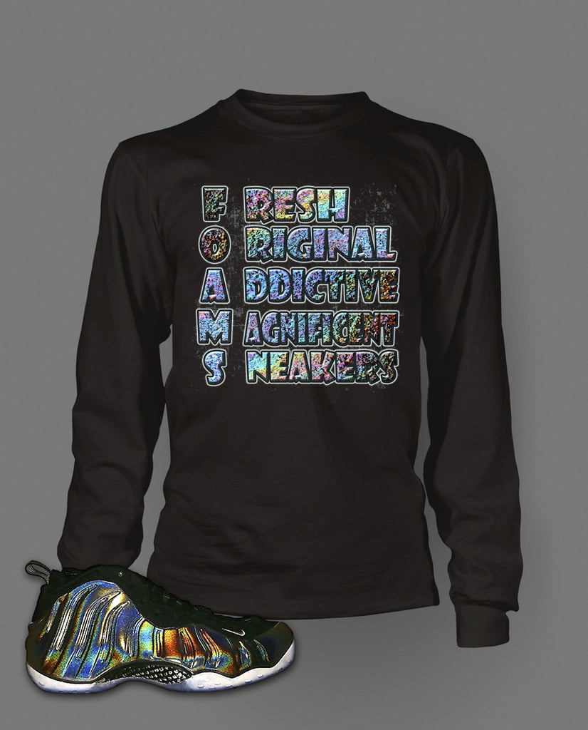 2b810c1aaf166 Long Sleeve Graphic T Shirt To Match Hologram Foamposite Shoe – Vegas Big  and Tall