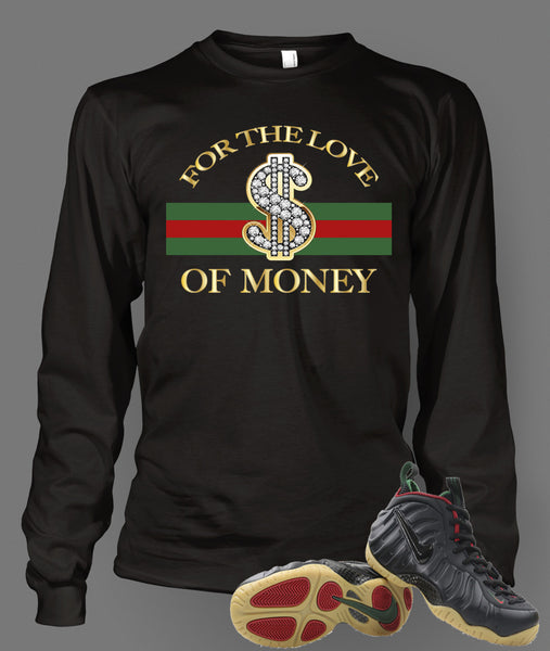 Long Sleeve T Shirt To Match Gucci Black Foamposite Shoe - Just Sneaker Tees - 1