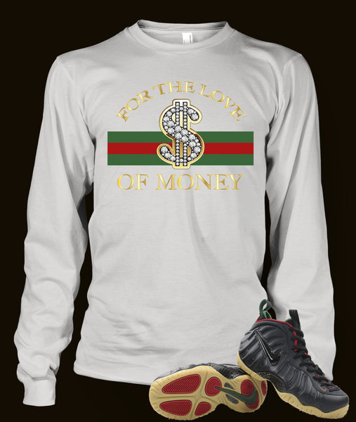 Long Sleeve T Shirt To Match Gucci Black Foamposite Shoe - Just Sneaker Tees - 2