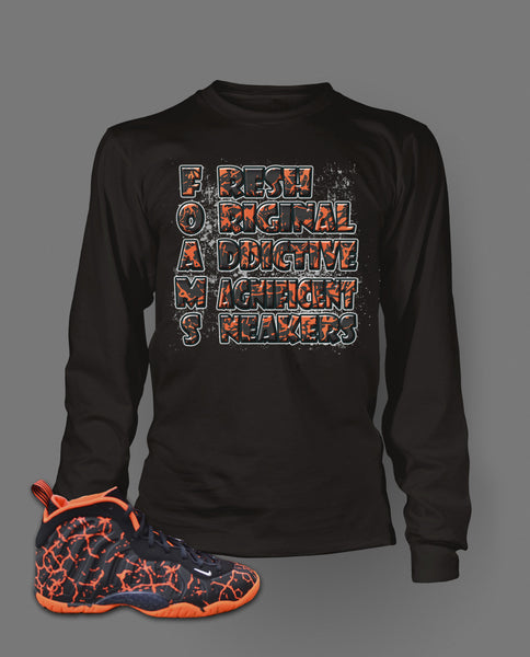 Long Sleeve T Shirt To Match Magma Foamposite Shoe - Just Sneaker Tees - 1