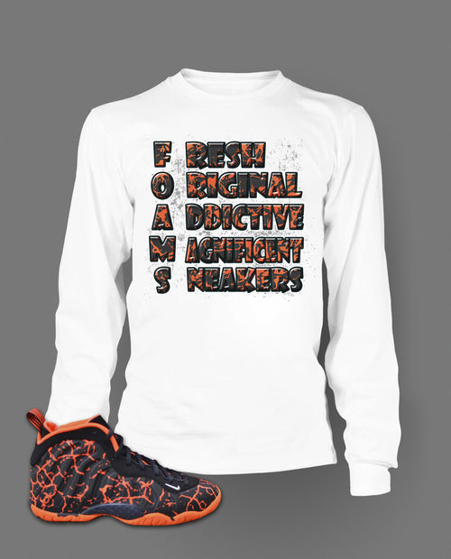Long Sleeve T Shirt To Match Magma Foamposite Shoe - Just Sneaker Tees - 2